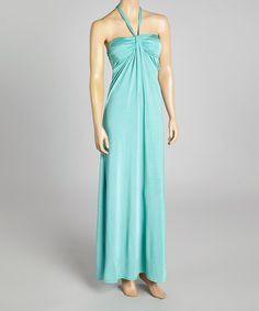 Look at this #zulilyfind! Blue Gathered Maxi Dress 19.99 #zulilyfinds