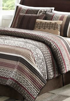 Give your bedroom a rich, unique aesthetic with the stylish Huxley coverlet set.