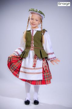 Lithuanian National Costume for a Girl