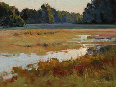 September Wetlands by Barbara Jaenicke Oil ~ 9 x 12
