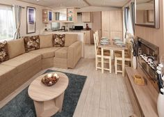 Modern Mobile Home Remodeling Idea - Beachy Color Scheme <3