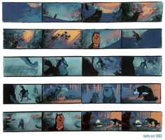 Balto Storyboard <--- I was so excited to find this because it's one of my all time favorite movies!