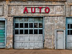 Photo about Abandoned auto repair shop in a derelict part of the city. Image of auto, garage, architecture - 10933711 Mechanic Shop, Mechanic Garage, Old Garage, Garage Doors, Auto Body Repair Shops, Car Repair, Auto Shops, Cool Garages, Old Gas Stations
