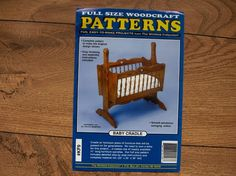 Woodcraft Woodworking Pattern Baby Cradle 22 X 35 X 38 Uncut