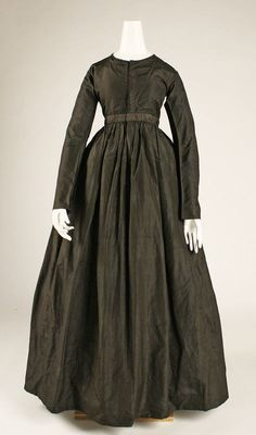 Dress \ ca. 1840 \ American \ silk
