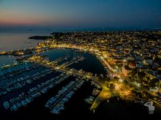 Aerial View of Aegina Port during Fistiki Fest 2016 Aerial Photography, Aerial View, City Photo