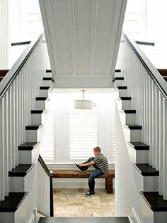 Tri level stair case.