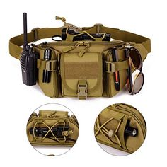 Amazon.com : Tactical Waist Pack Pouch Waterproof Molle Fanny Hip Belt Bag by Sunvp : Sports & Outdoors