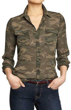 Camo Women's Chiffon Blouses on shopstyle.com
