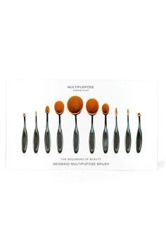 Mermaid Oval Brush Set (10 Pieces) Beauty GS-LOVE