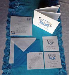 Campervan wedding stationery, inserts, folded and flat invitations, RSVP, Gift poem cards