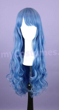 Basic Wig Braewyn - Pastellblau 80cm Gelockt MP | myBasic | Wigs | myCostumes