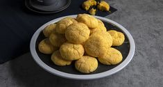 Lemon cookies by the Greek chef Akis Petretzikis. An easy recipe for the most delicious, crispy, aromatic lemon cookies! Serve with cream cheese! Peach Cookies, Lemon Cookies, Yellow Food Coloring, Greek Desserts, Nutrition Chart, Processed Sugar, Good Fats, Raw Food Recipes, Food And Drink
