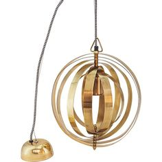 Brass Globe Pendant Light - available from MiaFleur