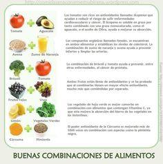 buenas combinaciones de alimentos  comida sana, cocina sana