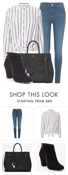"""Outfit #1688"" by lauraandrade98 on Polyvore featuring River Island, Equipment, Yves Saint Laurent and BCBGeneration"