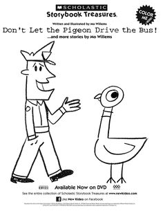 With love from Paris: Pigeon coloring pages mo willems More than 99 +pictures Bunny Coloring Pages, Coloring Pages To Print, Coloring Pages For Kids, Coloring Sheets, Free Coloring, Colouring, Language Activities, Book Activities, Pigeon Books