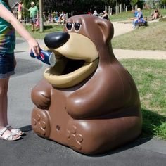 The TidyBear™ novelty litter bin is ideally suited for outdoor spaces around schools and nurseries, designed to encourage / educate children about the importance of collecting waste. #GlasdonUK #AnimalShaped #Bins #Novelty