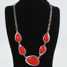GET YOURS NOW 6 MORE IN STOCK !!!!!!!!!!!! 'Sassy Red Turquoise Necklace ! ' is going up for auction at  9am Sat, Nov 24 with a starting bid of $10.