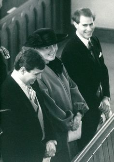 1169-Duke and Duchess of York Prince Andrew and Sarah with Prince Edward - 1988