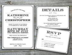 Printable Wedding Invitation  Vintage Modern by beesandhenny, $40.00