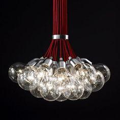 Bouquet of 19 Bulbs Long Pendant Light