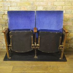 Vintage Blue Cinema Seats at D and A Binder | We have stunning vintage seating at Binder's! These beautiful blue cinema / theatre seats look fabulous and are ready for a new project. They're very comfortable and are in fabulous condition. Come and see them instore at D and A Binder at 101 Holloway Road. We also have them on DandABinder.co.uk and you can also email us at david@dandabinder.co.uk to discuss details.  #conversationpiece #vintagetheatre #classyrelic #homedecor #antiqueseating…