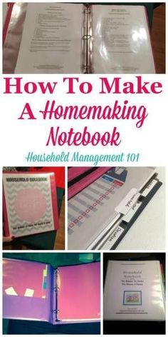 How to make a homemaking notebook, including a round up of resources and printables you can use to help clean, organize and manage your home on Household Management 101 Diy Organizer, Binder Organization, Household Organization, Organizing Tips, Organizers, Organising Ideas, Organizing Paperwork, Household Notebook, Household Binder