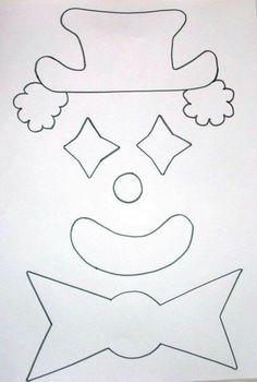 Clown Crafts, Circus Crafts, Carnival Crafts, Circus Art, Felt Crafts, Halloween Crafts, Paper Crafts, Clowns, Diy Crafts For Kids