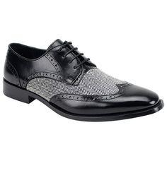Handmade Mem Tweed Leather Shoes, Trendy Winter Fashion Wedding Tuxedo Shoes - Dress/Formal