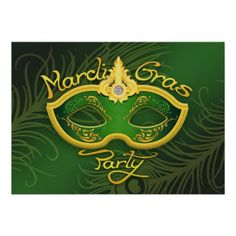 If you are looking for a Mardi Gras or Masquerade Party Invitation Cards, then this Elegant Sexy Feathers Mask Card is perfect for you, and it's totally customizable!