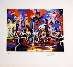 Mark Kostabi - Midnight at Noon - 2015 - SIGNED