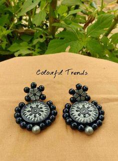 Ceramic Jewelry, Antique Jewelry, Bead Jewellery, Jewlery, Teracotta Jewellery, Jewelry Crafts, Handmade Jewelry, Terracotta Jewellery Designs, Terracotta Earrings