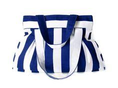 bageveryday bagblue and white stripedpurseshoulder baggift by seno, $40.00