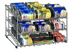 Kitchen Soup Can Food Rack Storage Cabinets Holder Pantry Closet Organizer