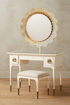 Petaluma Vanity Set by Anthropologie White One Size Furniture Unique Furniture, Home Furniture, Furniture Design, Dream Furniture, Classic Furniture, Contemporary Furniture, White Vanity Set, Queen, My New Room