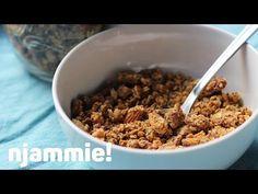 Pindakaas Granola Recept - njammie! - YouTube