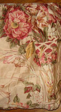 Ralph Lauren Guinevere Floral Ruffle King Bedskirt Medieval Collection EUC #RalphLauren #Traditional