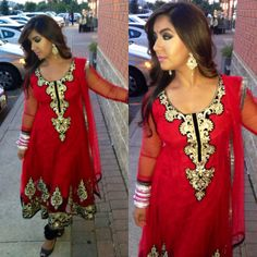 Lady in Red   #fashion #style #trendy #Indian #Bollywood #suits #sexy #red #clothing #wedding #party #reception #jewelery #shoes #hair #makeup #smokeyeye #nude #MA #ootd #channel #anarkali #manishmalhotra #designer #nars #shimmer #glam