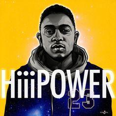HiiiPower - #digital #vector #illustration #KendrickLamar #Hiphop #Music #Section 80