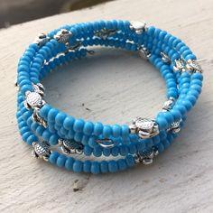 4f233dc43c8d3 Cool item  Turquoise Blue Memory Wire Bracelet
