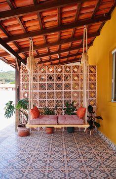 Diy Para A Casa, Diy Casa, Diy Home Crafts, Diy Home Decor, Home Room Design, House Design, Terrace Decor, Diy Porch, Indian Home Decor