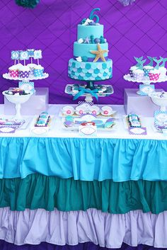 Incredible Little Mermaid Birthday Party! See more party ideas at CatchMyParty.com!