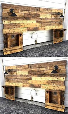 Use Pallet Wood Projects to Create Unique Home Decor Items Small Woodworking Projects, Diy Pallet Projects, Wood Projects, Fine Woodworking, Pallet Ideas, Unique Home Decor, Home Decor Items, Headboards For Beds, Headboard Ideas
