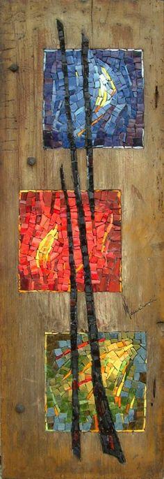 dinomaccini.it mosaic in wood, love love love