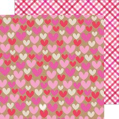 Doodlebug Design - Sweetheart Collection - 12 x 12 Double Sided Paper - Hopelessly Devoted at Scrapbook.com