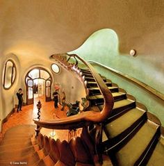 Casa Batillo, Barcelona, Spain. 1904-6. Antoni Gaudi