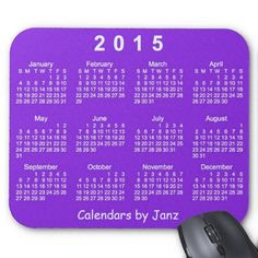 Purple Passion 2015 Calendar Mousepad Design from Calendars by Janz