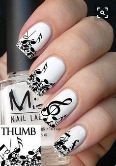 AMAZING NAIL ART! #music#white#nail#super