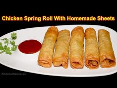 Chicken Spring Roll With Homemade Sheets - Roll Recipe with Roll Patti - Special Ramadan Recipe - YouTube